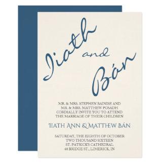 Iiath moderne Skript-Hochzeits-Einladung Karte
