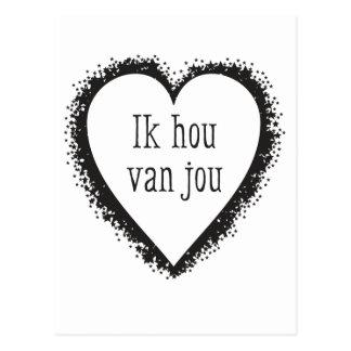 Ik Hou van Jou, i-Liebe Sie auf Holländer Postkarte
