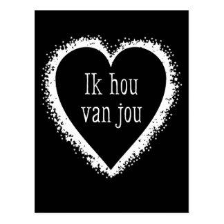 Ik Hou van Jou, i-Liebe Sie in niederländischem Postkarte