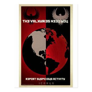 Ikarusarbeitstitel-Film-Produkte Postkarte