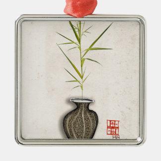 ikebana 12 durch tony fernandes silbernes ornament