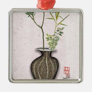 Ikebana 6 durch tony fernandes silbernes ornament