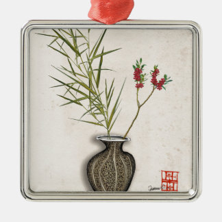 ikebana 8 durch tony fernandes silbernes ornament