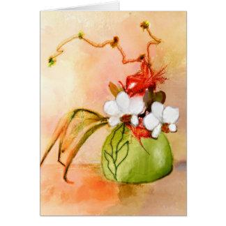 Ikebana kundenspezifische Gruß-mit Blumenkarte Karte