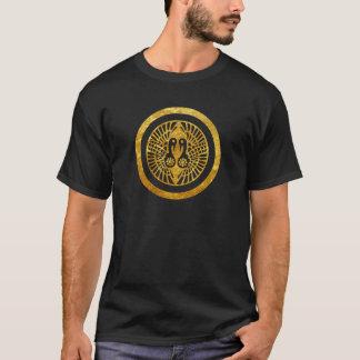 Ikko Ikki Montag japanisches Clan-Imitatgold auf T-Shirt