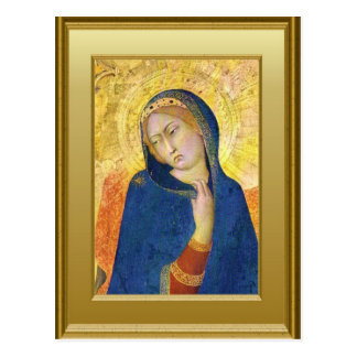 Ikon der Jungfrau Mary Postkarte
