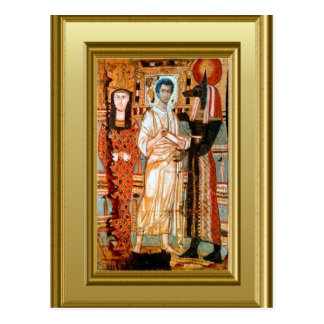 Ikon eines koptischen Heiligen Postkarte