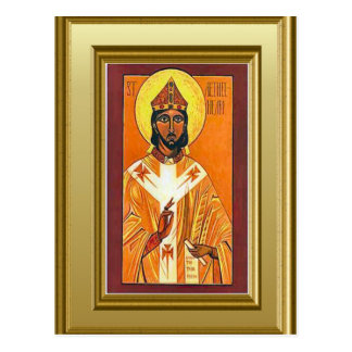 Ikon eines sächsischen Heiligen, England Postkarte