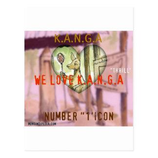 Ikone der LIEBE K.A.N.G.A Postkarte