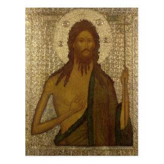 Ikone von Johannes der Vorläufer Postkarte