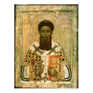 Ikone von St- Gregoryerzbischof von Saloniki Postkarte