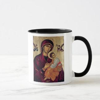Ikone, welche die heilige Mutter der Leidenschaft Tasse