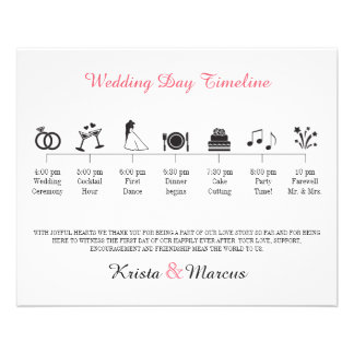 Ikonen-Hochzeits-Zeitachse-Programm Flyer