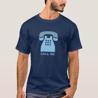 Ikonenhafter blauer Retro Telefon-Anruf ich T-Shirt