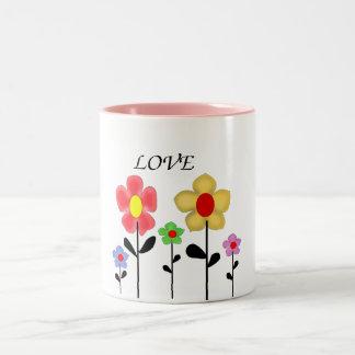 Il effiloche, flowers mug bicolore