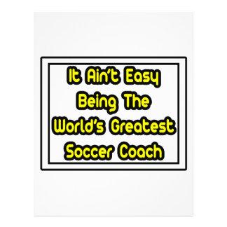 Il entraîneur du football… du monde facile d'Aint  Prospectus Avec Motif
