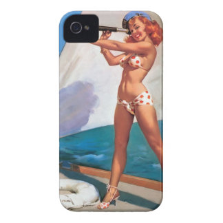 Il marie pour Blackberry Bold Pin Up Vintage Coque iPhone 4 Case-Mate