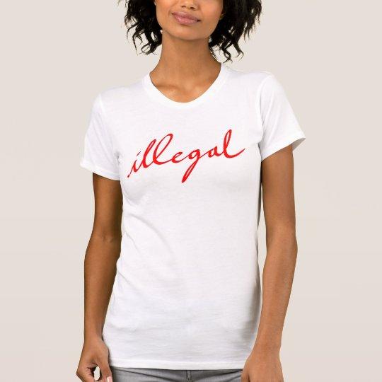 Illegaler einfacher weißer T - Shirt