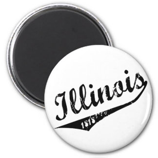 Illinois 1818 runder magnet 5,1 cm