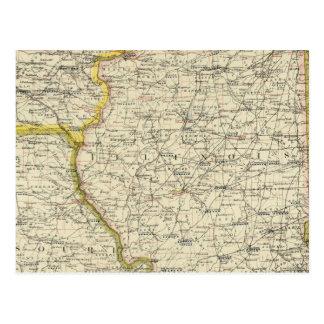 Illinois, Indiana, Iowa, Missouri Postkarte