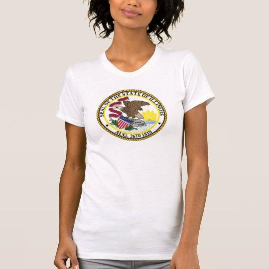 Illinois-Staatsflagge USA vereinigte T-Shirt