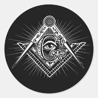 Illuminati alles sehende Augen-Freimaurer-Symbol Runder Aufkleber