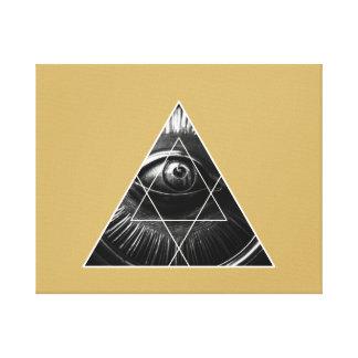 Illuminati Grafik-Gold Leinwanddruck