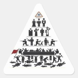 Illuminati Kontrollen-Aufkleber Dreieckiger Aufkleber