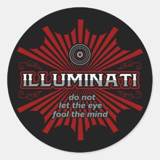 Illuminati lassen das Auge den Verstand nicht Runder Aufkleber