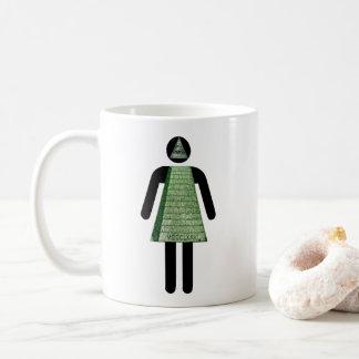 Illuminati Mädchen Kaffeetasse