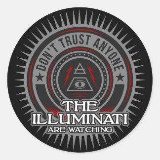 Illuminati passen vertrauen nicht jedermann auf runder aufkleber