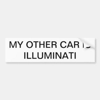 Illuminati Stoßdämpfer-Stock Autoaufkleber