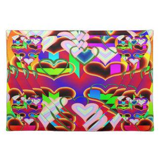 Illusion der Herzen durch Kenneth Yoncich Tisch Set