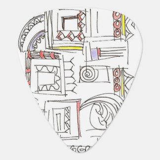 Illusorisch-Abstrakte Kunst-geometrisches Plektrum