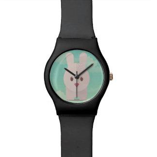 Illustration animale mignonne de lapin de décor montres bracelet