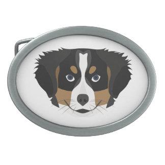 Illustration Bernese Gebirgshund Ovale Gürtelschnallen