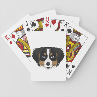 Illustration Bernese Gebirgshund Spielkarten