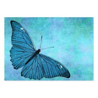 Illustration bleue turquoise vintage de 1800s de carte de visite grand format
