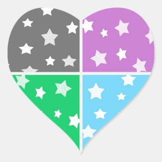 Illustration colorée de profil sous convention autocollants en cœur