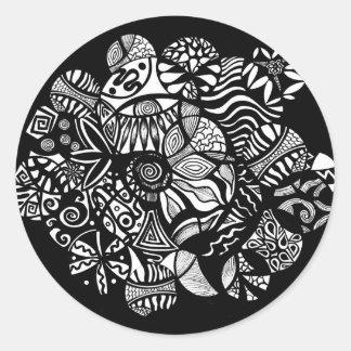 Illustration d'abrégé sur original de Vida Sticker Rond