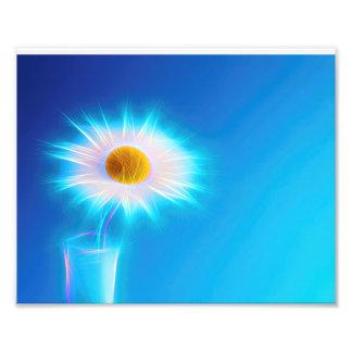 illustration dans le néon colors white plus flower photographie