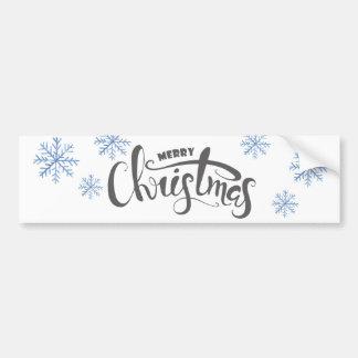 Illustration d'aquarelle de Joyeux Noël Autocollant De Voiture