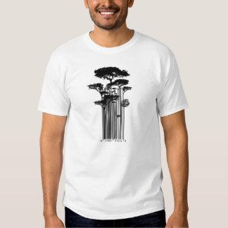 Illustration d'arbres de code barres tee-shirt