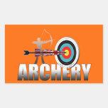 Illustration d'archers de cible de Londres de tir  Autocollants