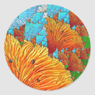 Illustration de corail sticker rond