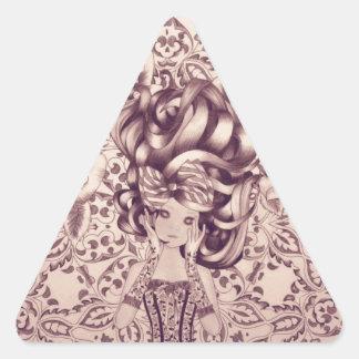 Illustration de crayon de rêverie autocollants en triangle
