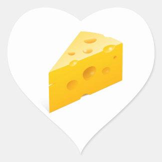 Illustration de fromage autocollants en cœur