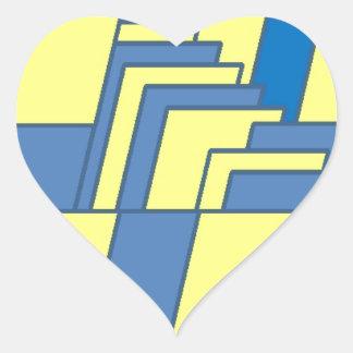 Illustration de schéma sticker cœur