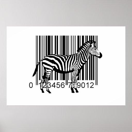 Illustration de zèbre de code barres posters