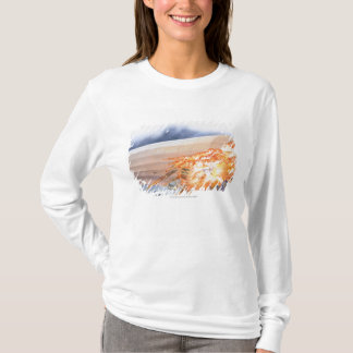 Illustration des Zeppelins berstend in Flammen T-Shirt